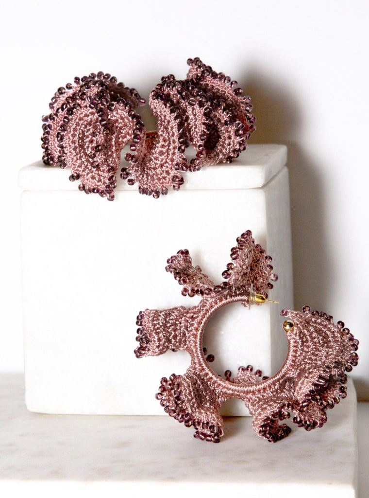 Flamenco Earrings | Blush