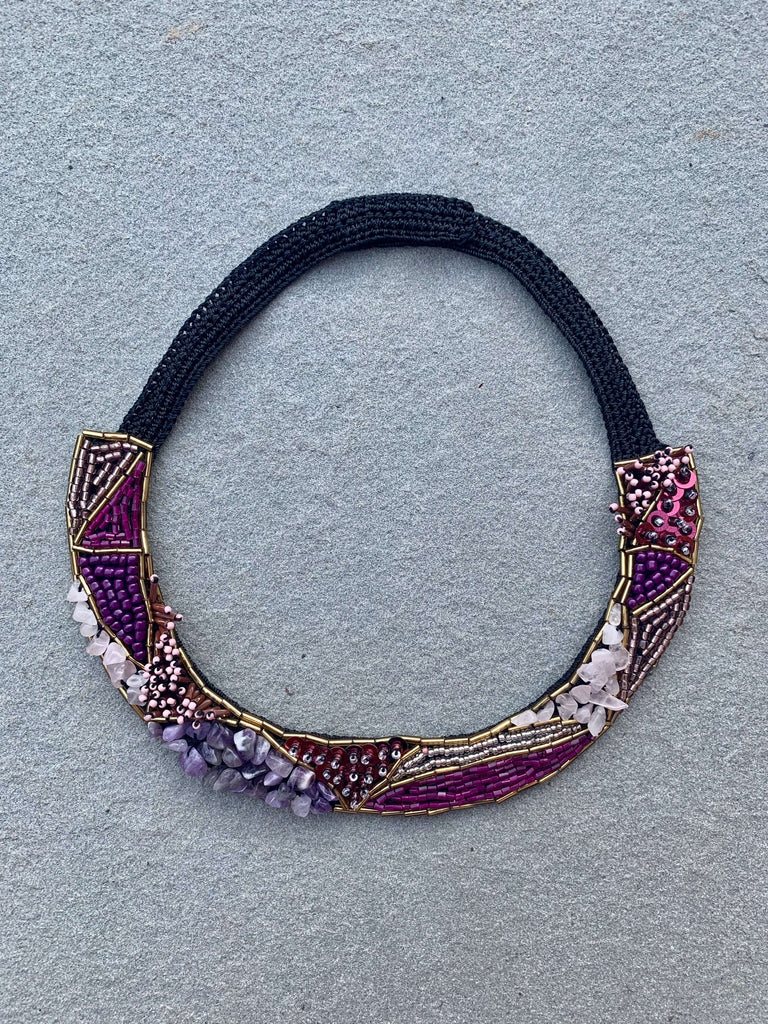 Bahar Necklace Purple