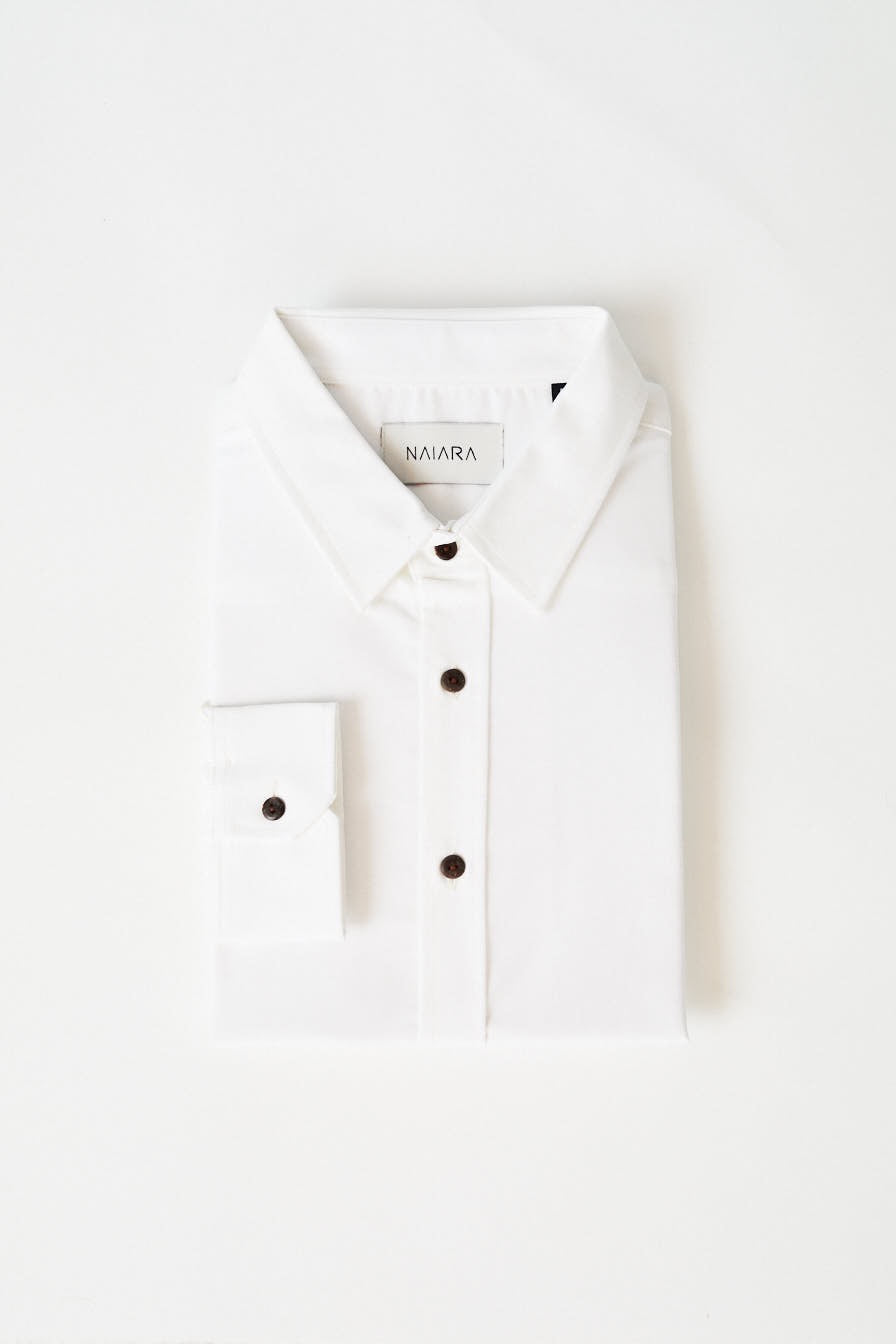 Oxford long-sleeved shirt PureWhite