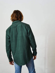Flannel Shirt Long Sleeve SmoothGreen