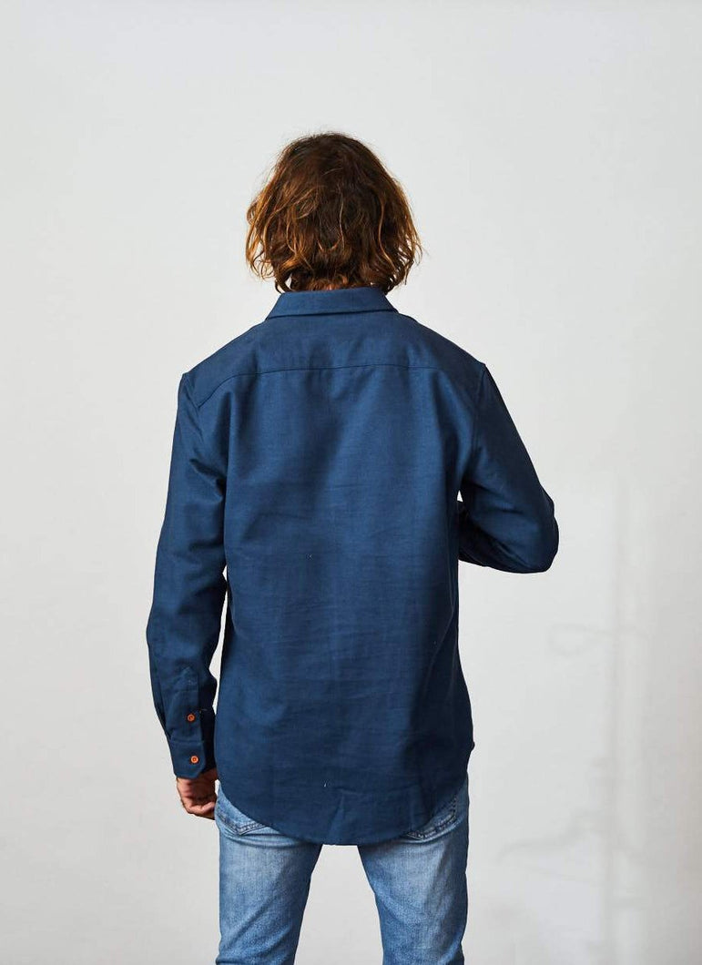 Flannel Shirt Long Sleeve SmoothBlue