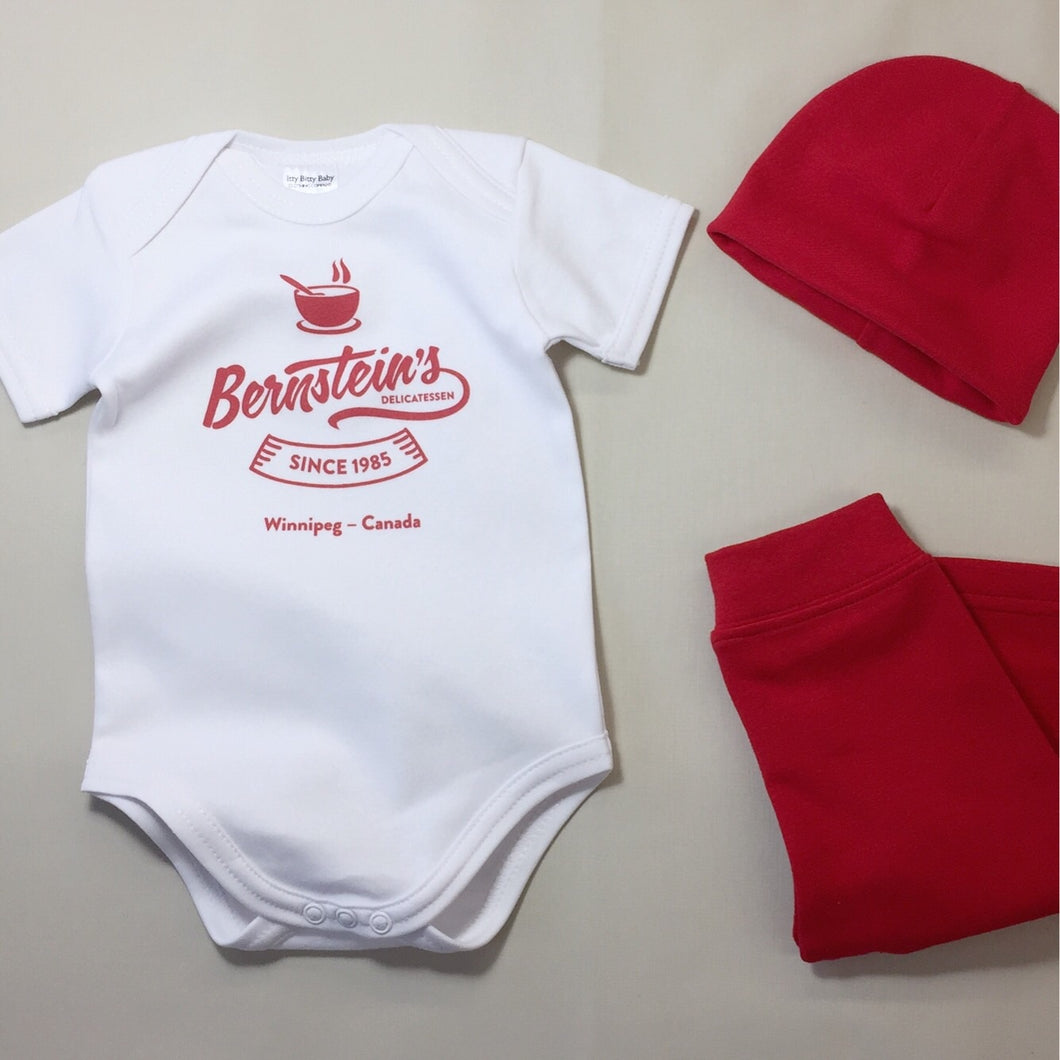 Baby Onsie with Bernsteins Emblem