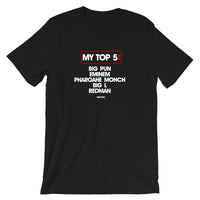 Your Top 5 T-Shirt (PERSONALIZED))