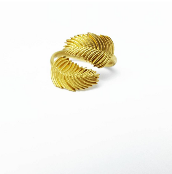 Palm Frond Bypass Ring [BACK IN STOCK 8/1]