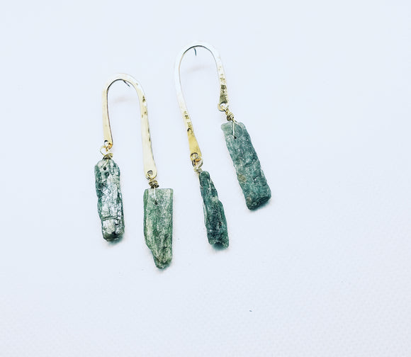 Green Kyanite Drops