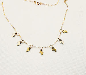 Cleos Moon Africa Charm Necklace [ships 8/15]