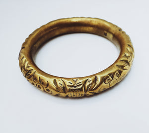 Vintage Brass Hollow Bangles