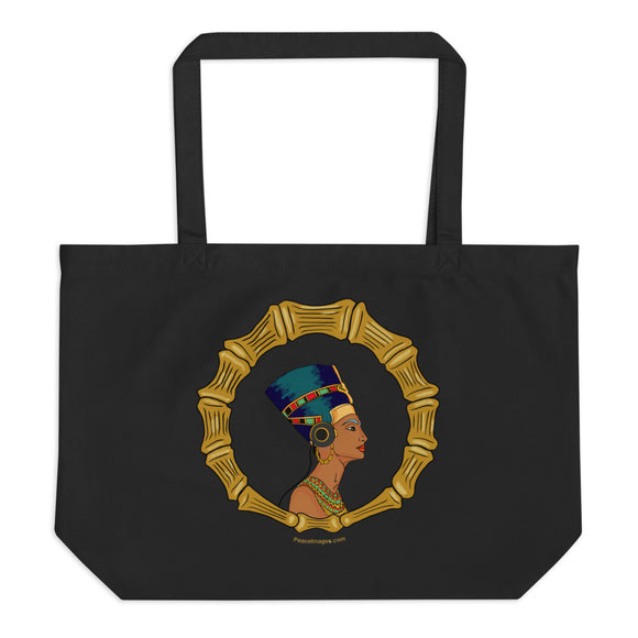 Nefertiti Tote Bag in Noir