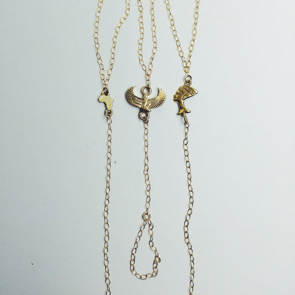 Nefertiti Hand Chain