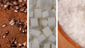 COFFEE, SUGAR & SALT SCRUBS