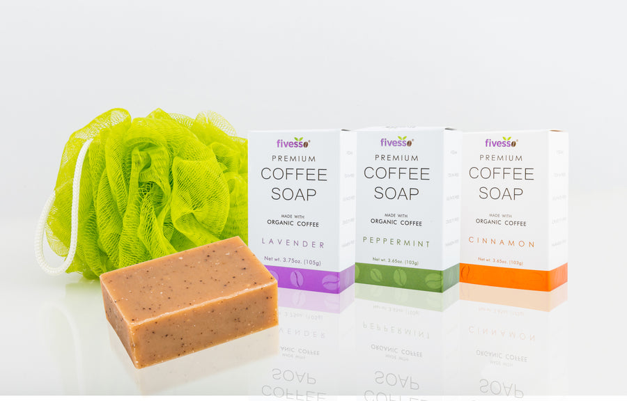 Fivesso Original Coffee Soaps: 3-Pack