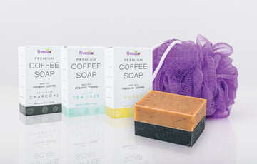 Fivesso Natural Cleansing Coffee Soaps: 3 Pack