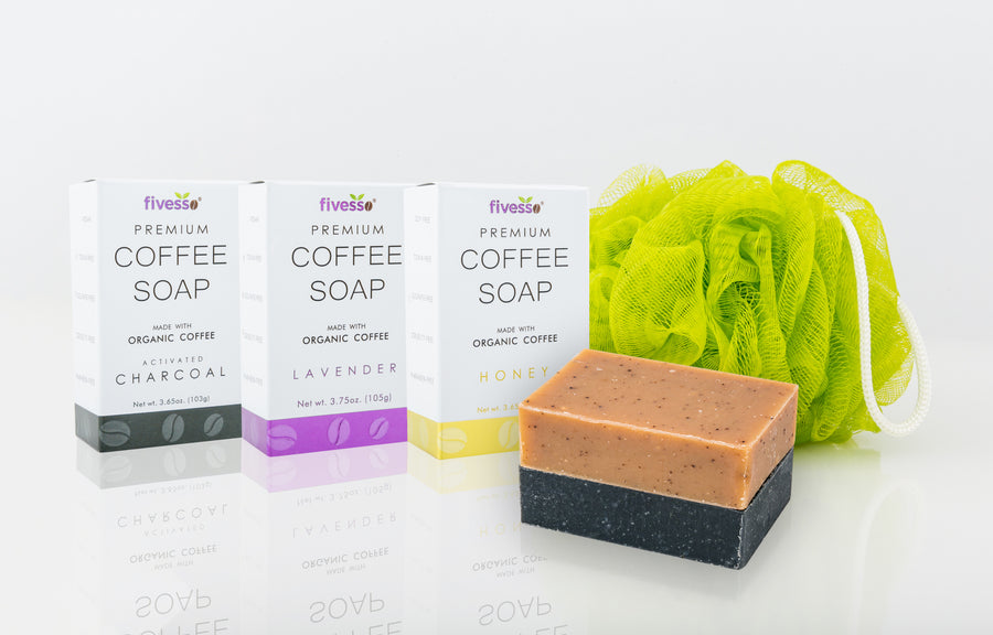 Fivesso Relax Me Coffee Soaps: 3-Pack