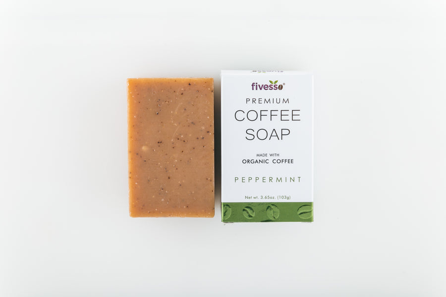 Peppermint - Premium Coffee Soap Bar