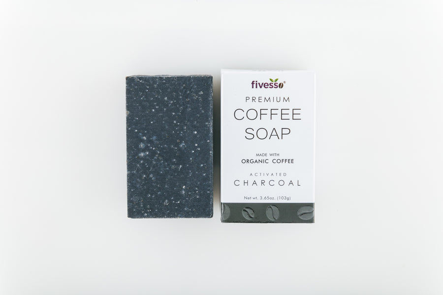 Fivesso Starter Package: Organic Coffee Soap and Coffee Body Scrub