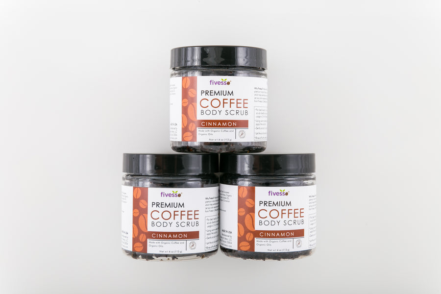 Cinnamon - Premium Coffee Scrubs (Pack of 3)