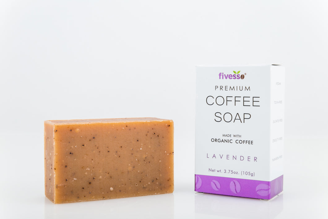Premium Coffee Soap Bar - Lavender