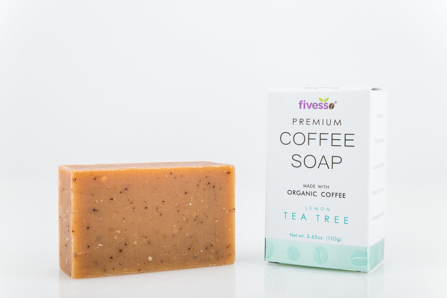 Lemon Tea Tree - Premium Coffee Soap Bar
