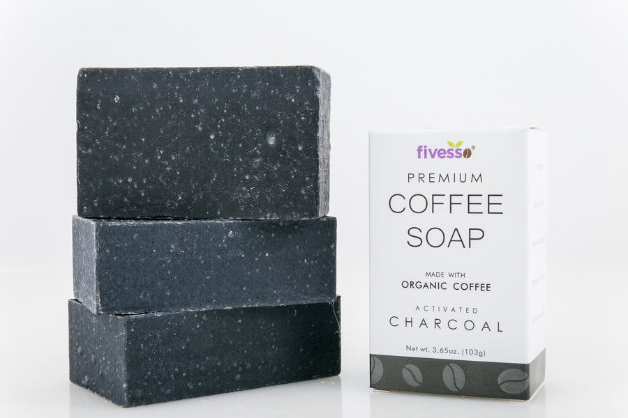 Activated Charcoal - Premium Coffee Soap Bar (Pack of 3 Bars)