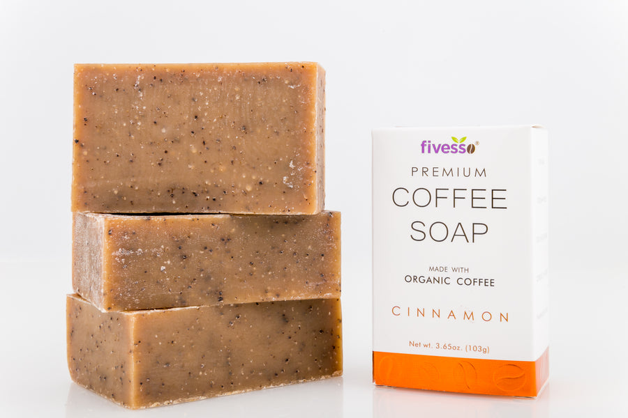 Cinnamon - Premium Coffee Soap Bar (Pack of 3 Bars)