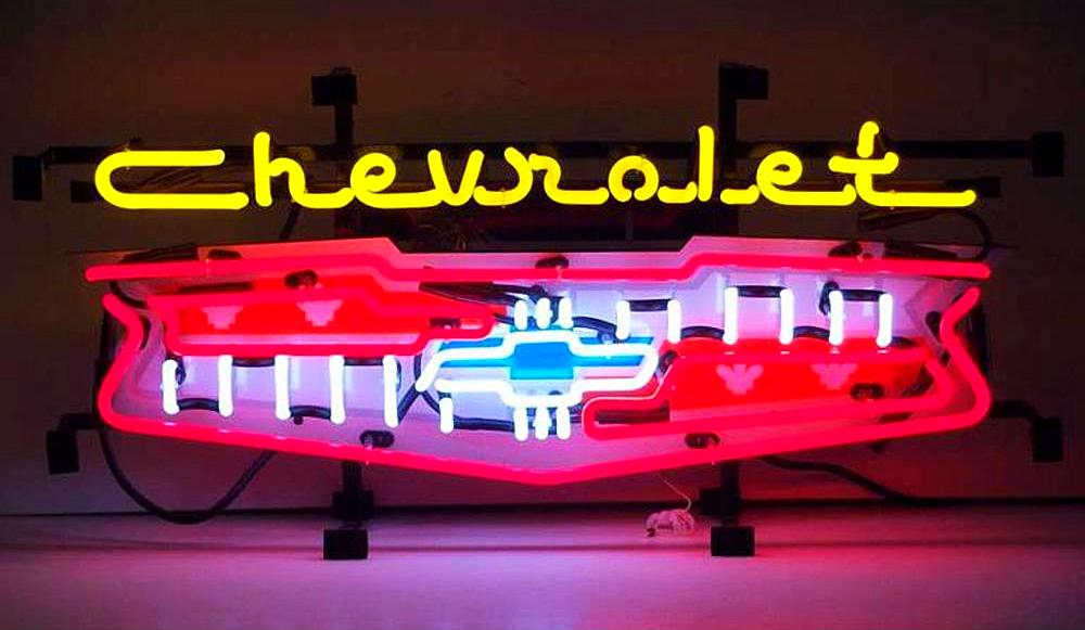 Chevrolet Grill Neon Sign