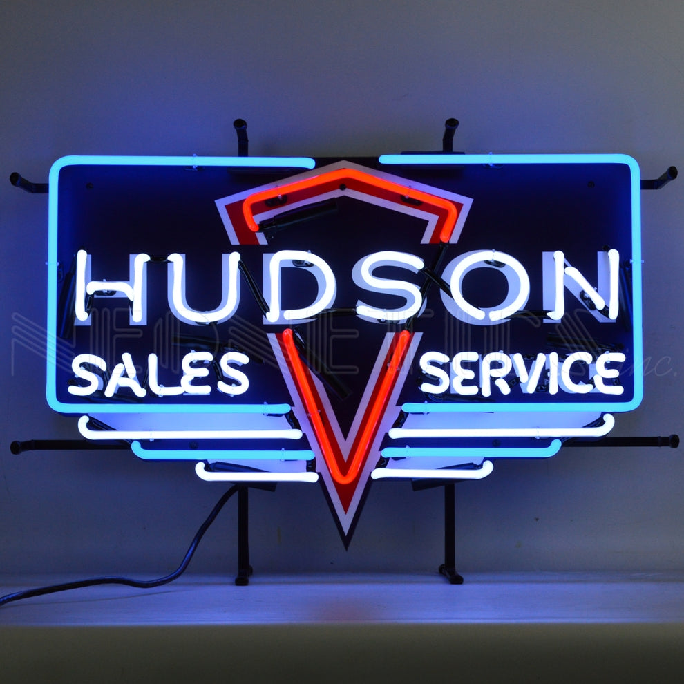 Hudson Sales and Service Neon Sign