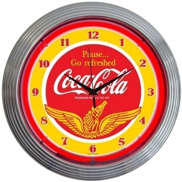 Coca-Cola Wings Neon Clock