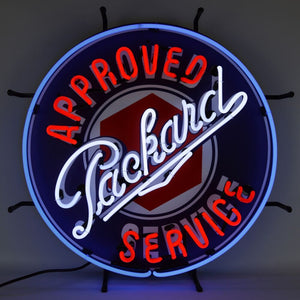 Approved Packard Service Neon Sign