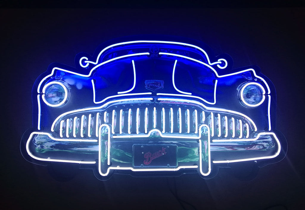 5' Buick Grill Neon Sign in a Steel Can