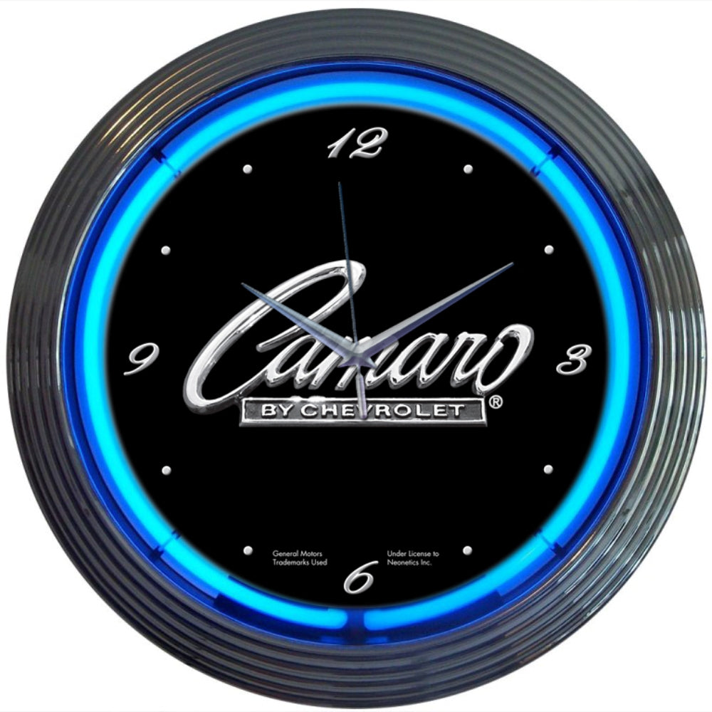Camaro by Chevrolet Neon Clock