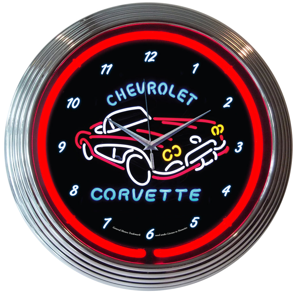 Chevrolet Corvette Neon Clock