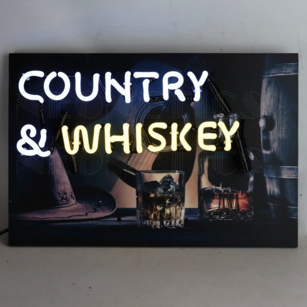 Country & Whiskey Junior Neon Sign