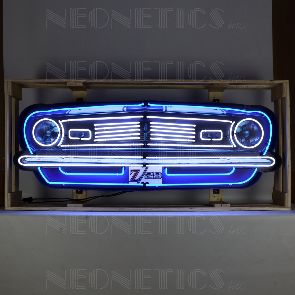 5' Camaro Z28 Neon Sign in a Steel Can