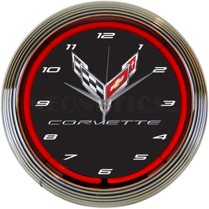 Chevrolet Corvette C8 Neon Clock