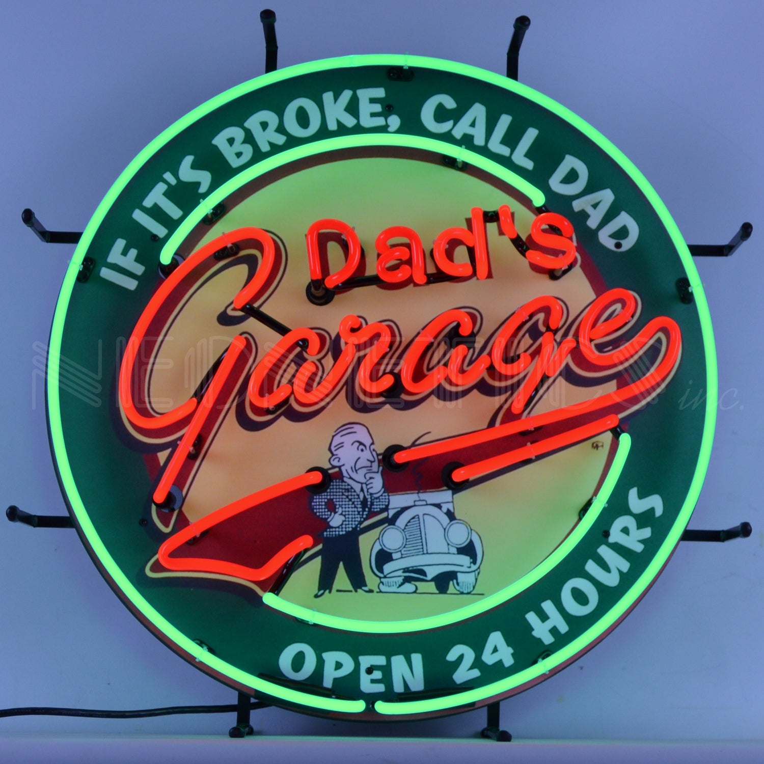 Dad's Garage Neon Sign