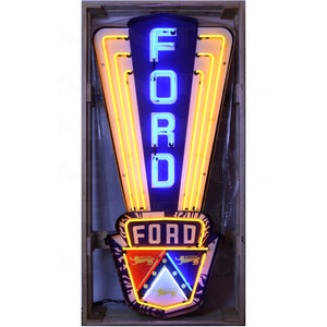 Ford Jubilee Neon Sign In a Steel Can