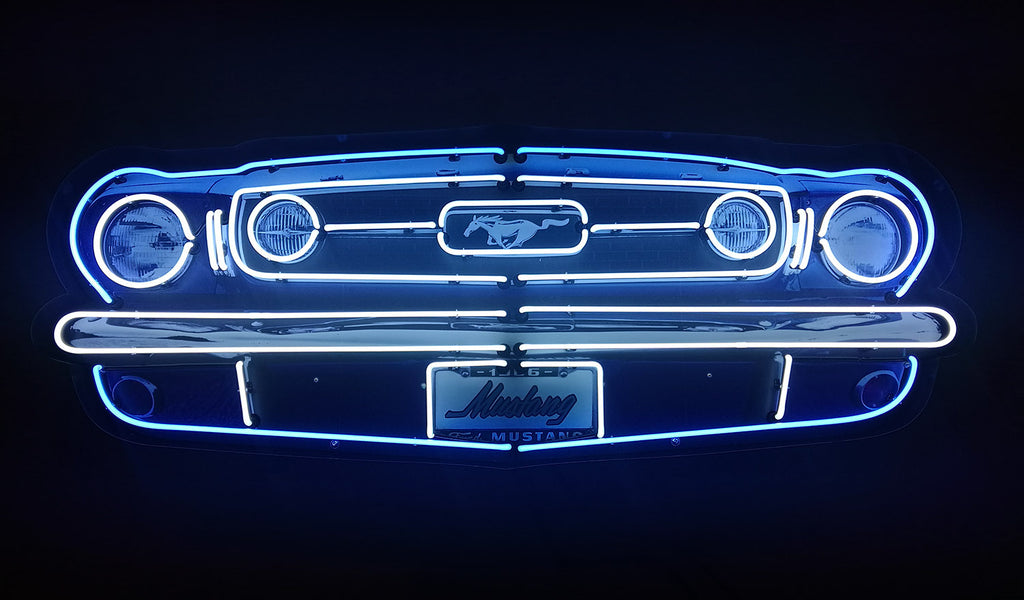 5' Ford Mustang Neon Sign in a Steel Can