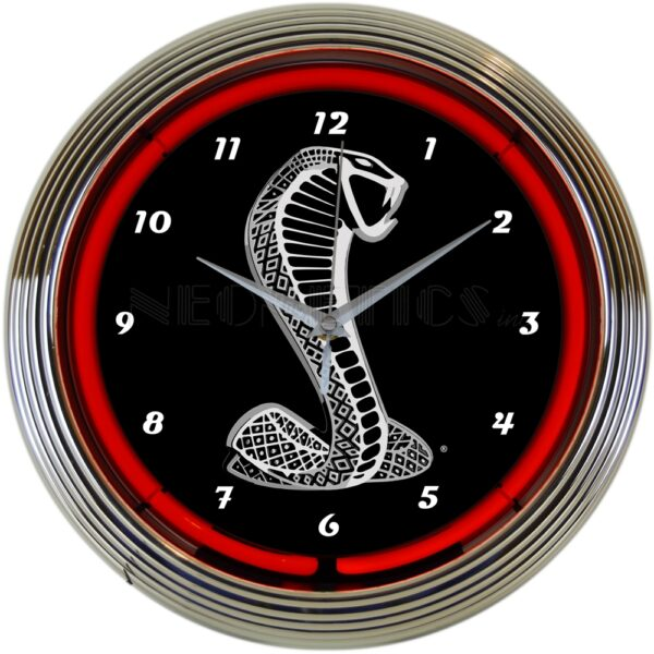 Ford Snake Neon Clock