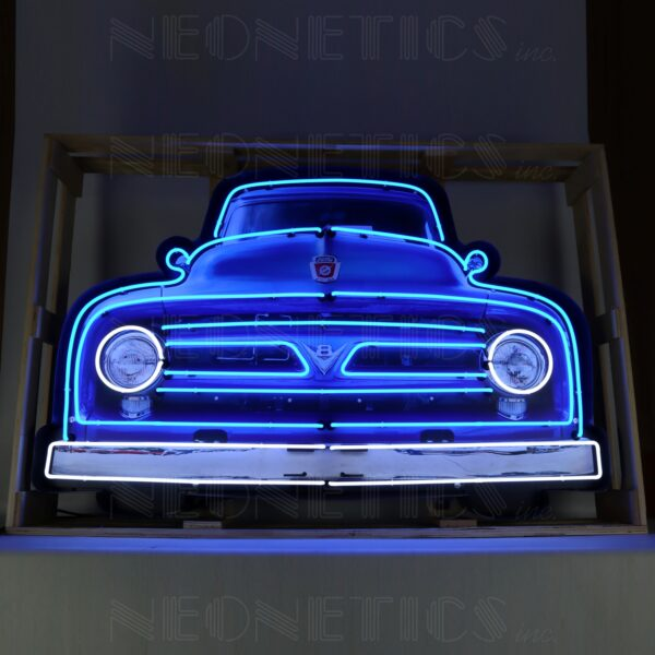 5' Ford V8 Truck Neon Sign in a Steel Can