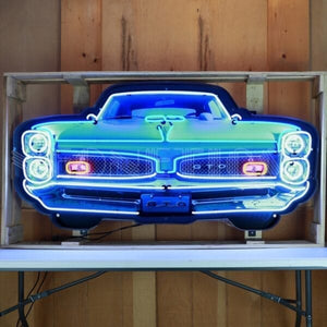 GTO Grill Neon Sign in a Steel Can