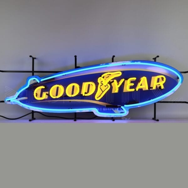 Goodyear Blimp Neon Sign