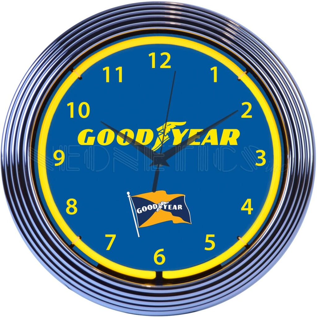 Goodyear Tires Neon Clock