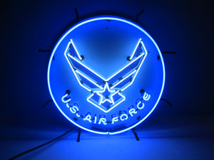 U.S. Air Force Neon Sign - Round