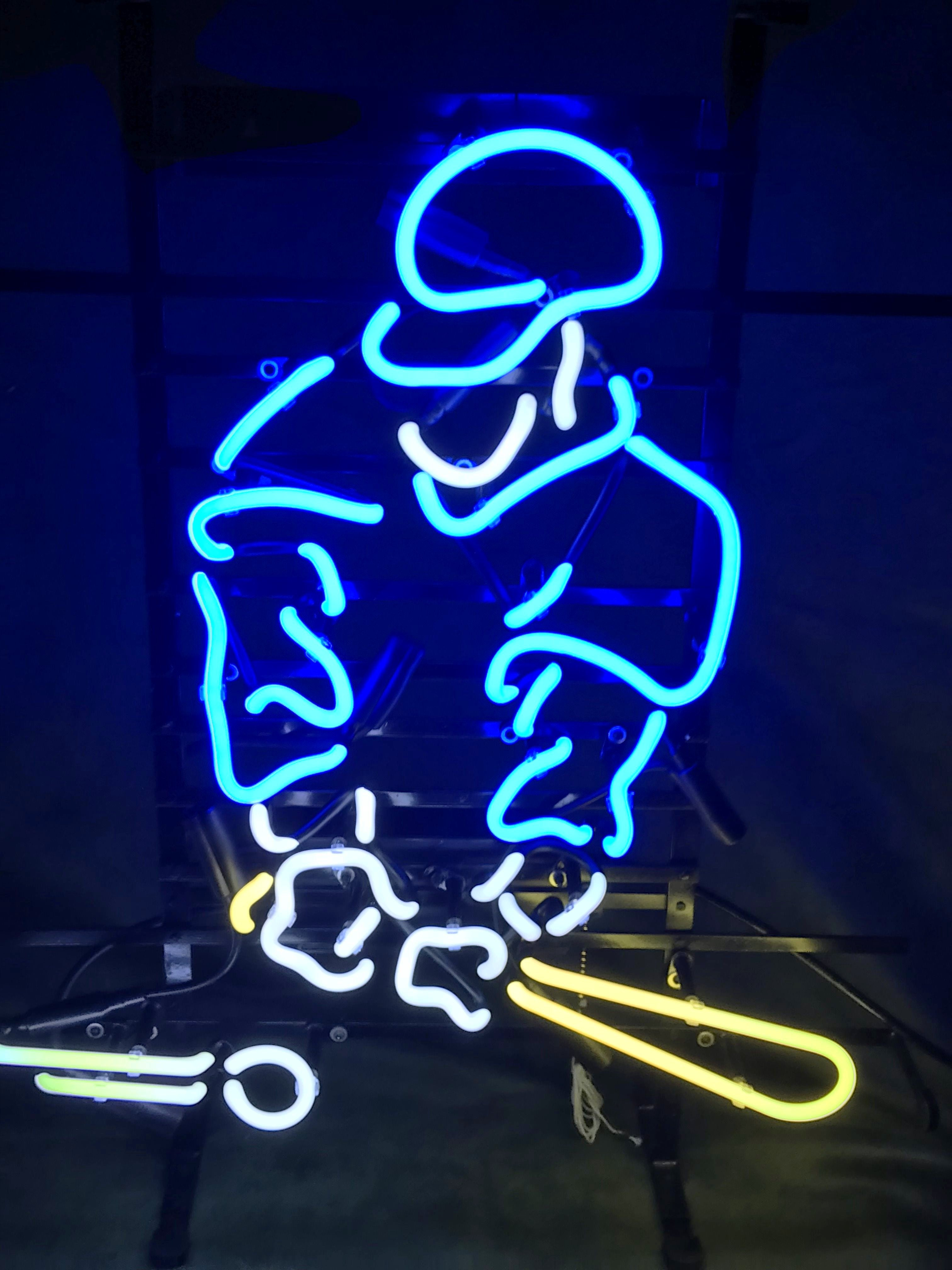 Baseball Player (BLUE) Neon Sign
