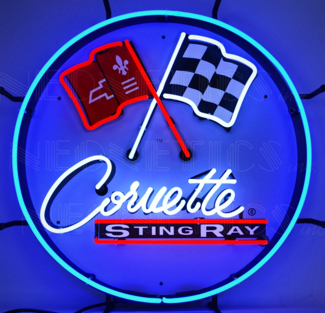 Corvette C-2 Stingray Neon Sign