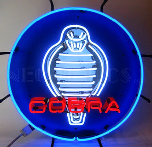 Ford Cobra with Backing Neon Sign