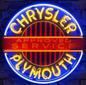 Chrysler Plymouth Approved Service Neon Sign