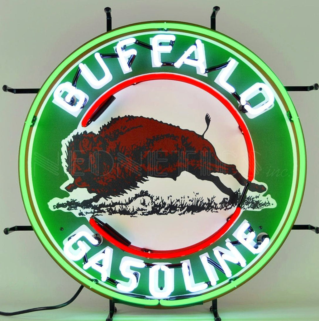 Buffalo Gasoline Neon Sign