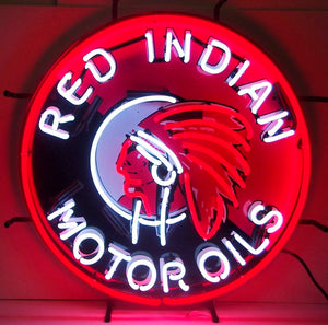 Red Indian Motor Oil Neon Sign