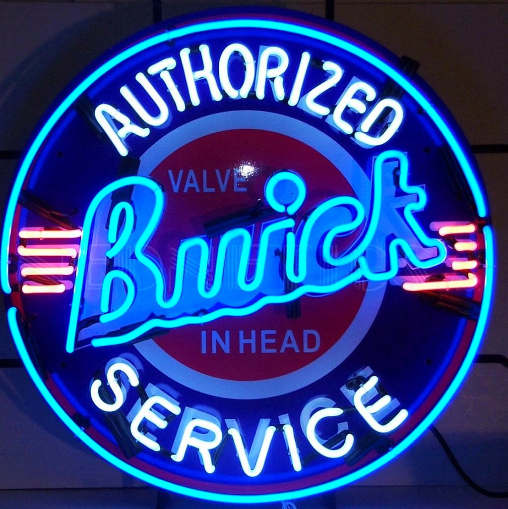 Authorized Buick Service Neon Sign